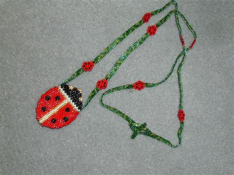 17 best images about peyote bag necklace on