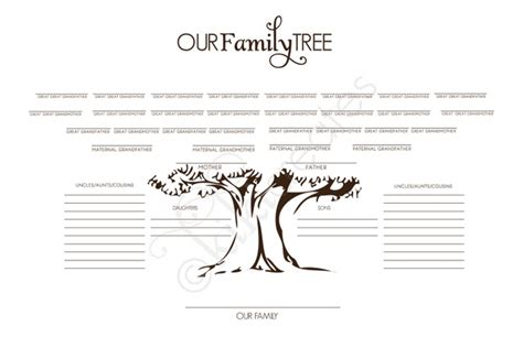 Family Tree Blank Outline by Family Tree Outline Crafts I Would Like To Do
