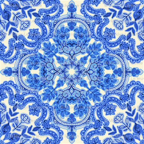 china pattern cobalt blue china white folk art pattern fabric
