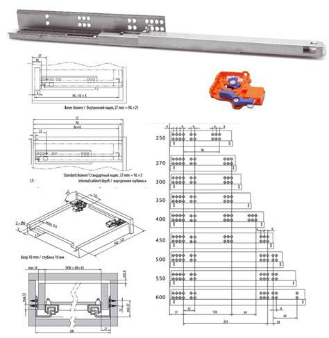 selbsteinzug schublade vollauszug set f 252 r holzschubk 228 sten 300mm mit selbsteinzug