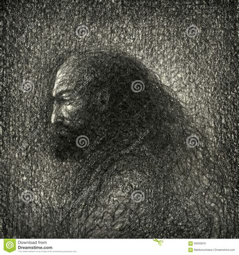 Handmade Drawing Paper - portrait of a stock illustration image 56563619