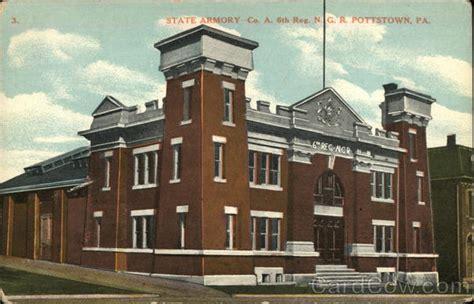 Post Office Pottstown Pa by State Armory Pottstown Pa