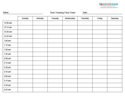 printable time management charts | lovetoknow