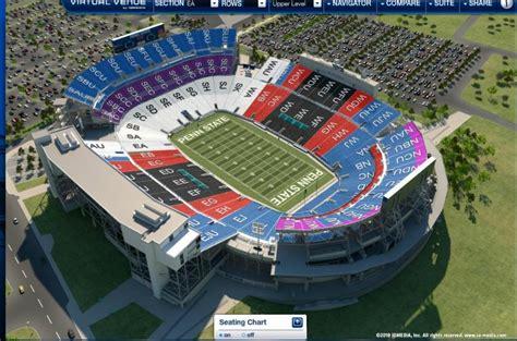 penn state stadium seating beaver stadium seating chart rows beaver stadium seat