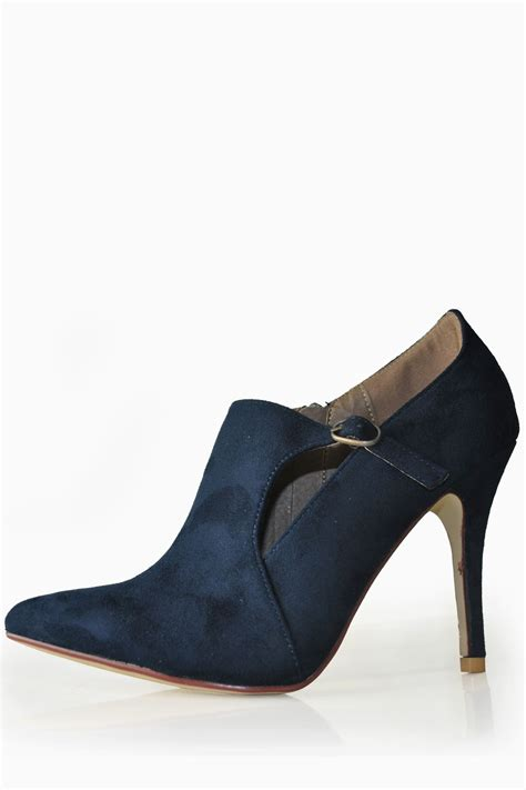 shoe boots for sole city aerona pointed shoe boot in navy iclothing
