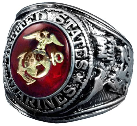 us marine corps sterling silver ring us marine corps