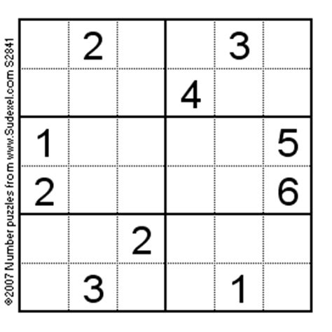 printable mini sudoku puzzles the gallery for gt logic puzzles with grids