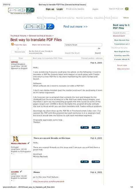 best way to files best way to translate pdf files general technical issues
