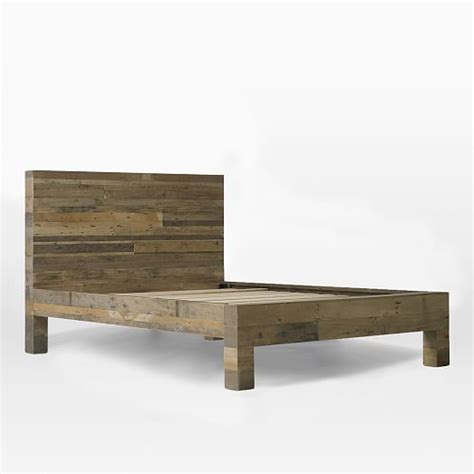 west elm reclaimed wood bed emmerson reclaimed wood bed natural west elm