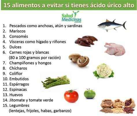alimentos evitar  tienes acido urico elevado sym