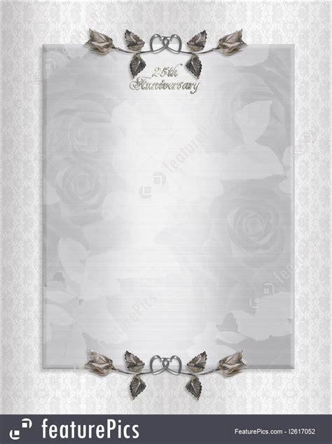 25th Wedding Anniversary Invitation Format