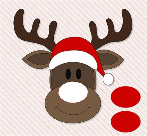 pin the nose on rudolph template pin the nose on rudolph classroom printable by