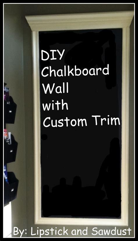 diy chalkboard wall lipstick and sawdust diy wall space to custom chalkboard