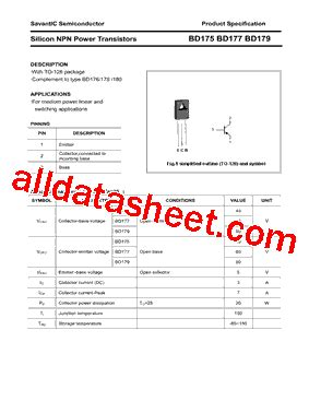 russian transistor equivalent bd175 datasheet pdf savantic inc