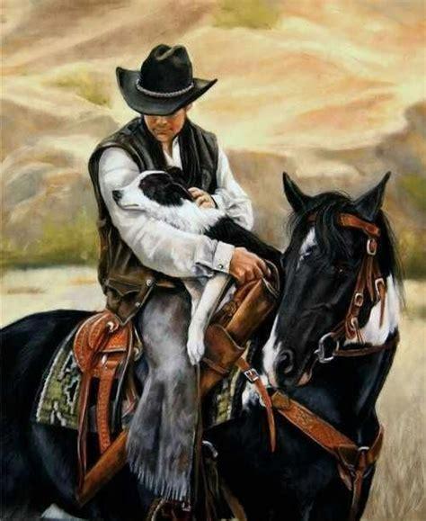 home interior western print horse dog cowboy quot daybreak all a cowboy needs by victoria wilson schultz cowboy