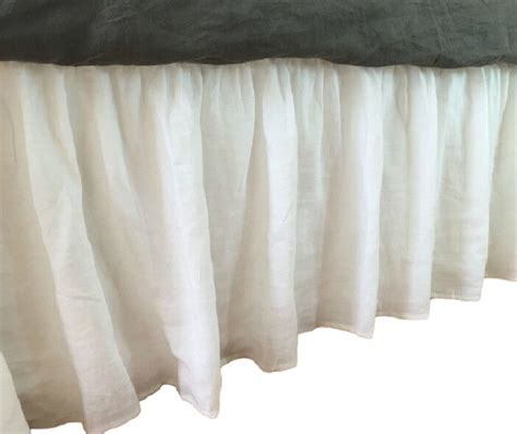 white bed skirt white bed skirt bedskirts by superiorlinenshandmade