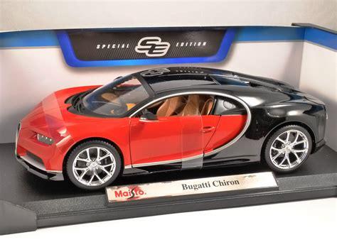 bugatti chiron red bugatti chiron in red black 1 18 scale model by maisto