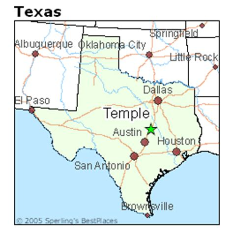 temple texas map best places to live in temple texas
