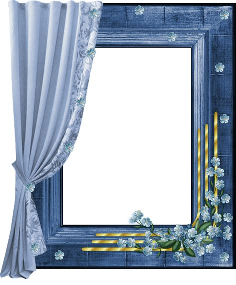 curtain frame blue transparent png frame with curtain gallery