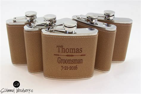 personalized gifts 7 pack groomsmen gift leather flask gift personalized best