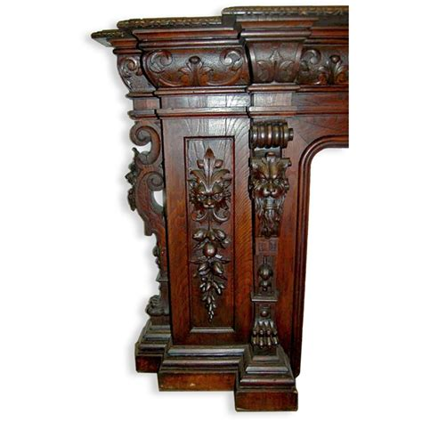 Mahogany Fireplace Mantel by Antique Carved Mahogany Fireplace Mantel For Sale Antiques Classifieds