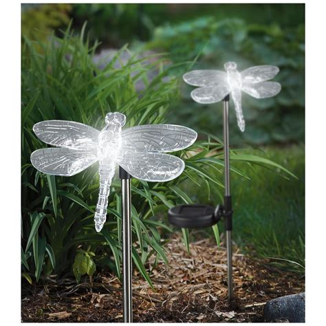 Solar Dragonfly Lights 2 Pack 657957 Solar Outdoor Dragonfly Lights
