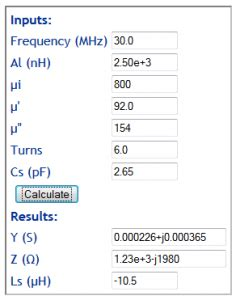 ferrite inductor calculator a new impedance calculator for rf inductors on ferrite cores owenduffy net