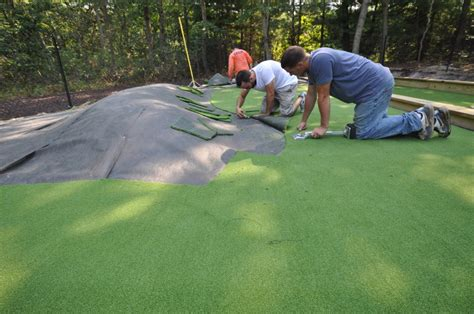 installing a putting green in your backyard putting greens synthetic golf turf sport courts artificial long island ny