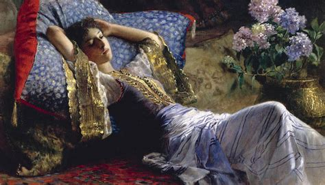 reclining odalisque reclining odalisque 1868 1921 painting by ferdinand max bredt