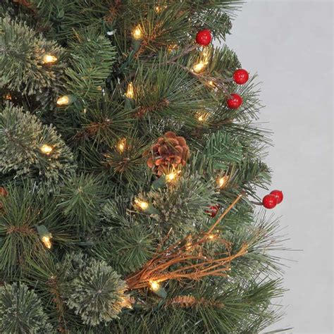 home depot christmas tree return policy martha stewart 4 5 ft pre lit paley pine potted tree clear lights avi depot much