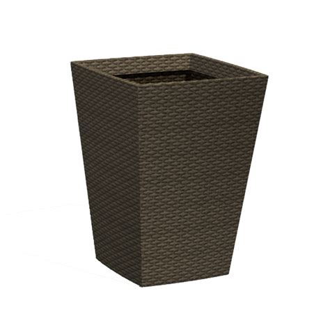 medium brown rattan effect planter next day delivery