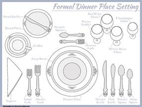 formal dinner setting place setting template for seven course meal food