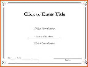 Free Blank Certificate Templates For Word Blank Certificates