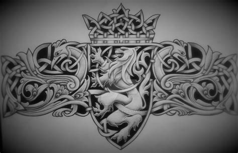 celtic lion emblem by tattoo design on deviantart