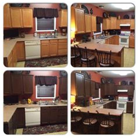 kitchen transformation done used rustoleum cabinet