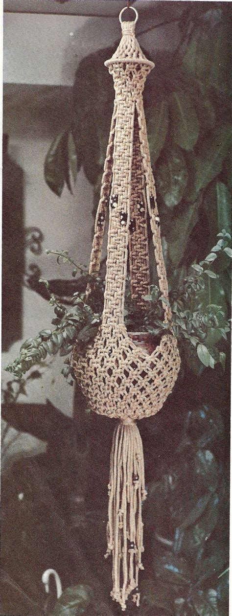 Macrame Plant Hanger Patterns Free - instant vintage pattern macrame plant hanger