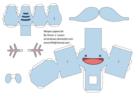 Papercraft Simple - wooper papercraft template by simonlarsen on deviantart