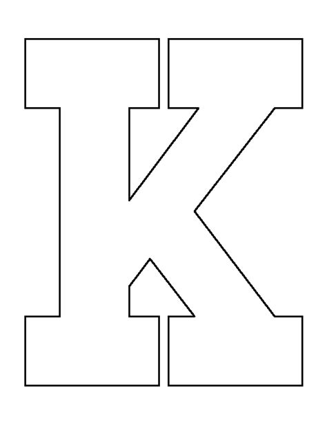 letter k template letter k pattern use the printable outline for crafts
