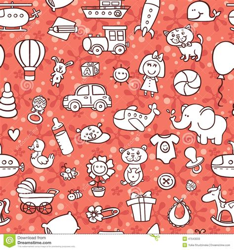 pattern goods baby goods pattern stock vector image 47543033