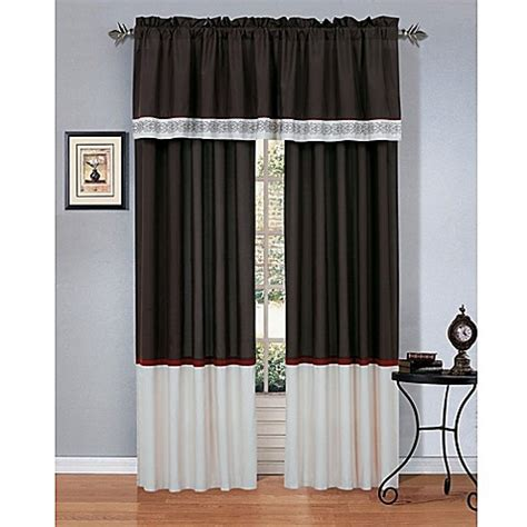 cheap curtain panel pairs cassandra window curtain panel pair and valance bed bath