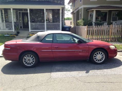 2001 Chrysler Sebring Convertible For Sale by Find Used 2001 Chrysler Sebring Convertible In