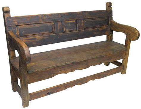 colonial bench rustic old door mexican colonial bench rustic wood pinterest