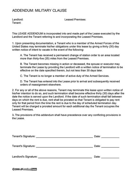 Navy Letter Of Agreement Clause Agreement Ez Landlord Forms