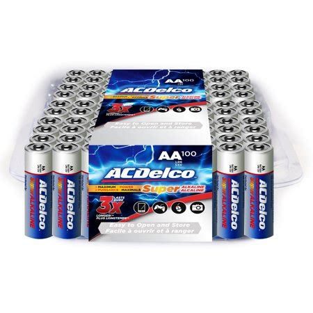 Acdelco Alkaline Aa Batteries 100 Count Walmart