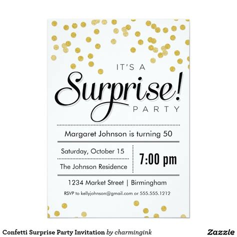 surprise birthday party invitations templates free