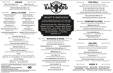 backyard bistro menu backyard bistro menu menu for backyard bistro pipe creek