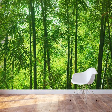 wall mural bamboo wall mural forest wallpaper mural wallums
