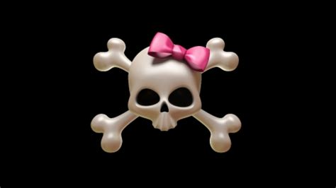 wallpaper gothic girly girly skull 3d and cg abstract background wallpapers