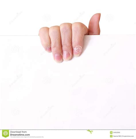 How To Make Paper Holding - holding empty paper stock photo image 34652690