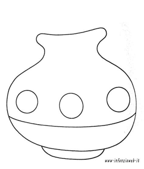 disegni di vasi vaso con fiore da colorare